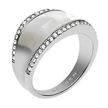 Skagen Klassik Silver Tone Crystal Set Ring - Product number 1863444