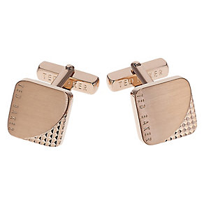Ted Baker Bootle rose gold-plated square cufflinks - Product number 1867067