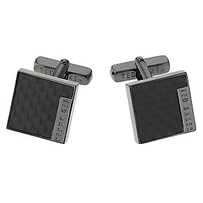 Ted Baker Didcot carbon fibre black cufflinks - Product number 1868284