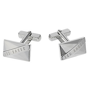 Ted Baker Arncott rectangular silver tone cufflinks - Product number 1868691