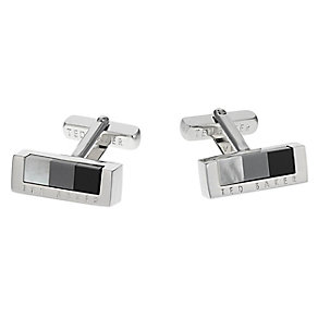 Ted Baker Gilford silver tone rectangular cufflinks - Product number 1868772
