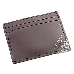 Ted Baker Korna corner emboss brown leather cardholder - Product number 1869205