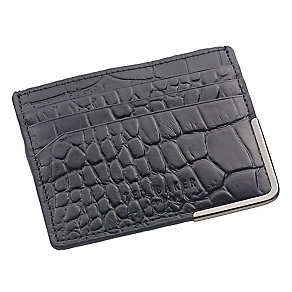 Ted Baker Jiffar croc effect black leather cardholder - Product number 1869396