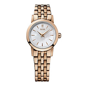 Hugo Boss ladies' rose gold-plated bracelet watch - Product number 1929852