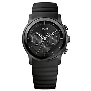 Hugo Boss men's black ion-plated rubber strap watch - Product number 1929860