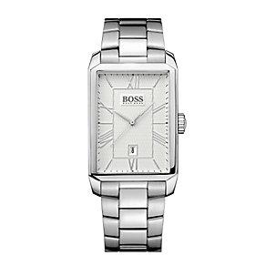 Hugo Boss men's rectangular stainless steel bracelet watch - Product number 1929925