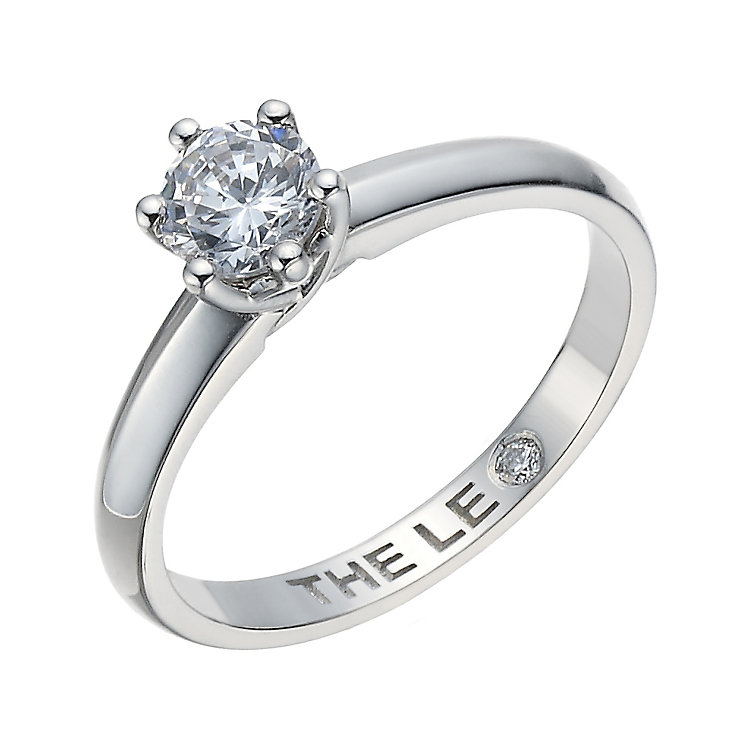 Leo Diamond 18ct white gold 0.50ct I-S12 soliatire ring - Product number 1929984