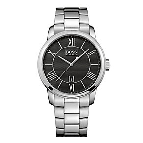 Hugo Boss men's black dial stainless steel bracelet watch - Product number 1930117