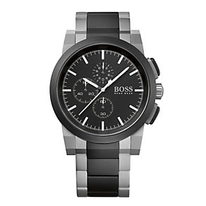 Hugo Boss men's black & stainless steel bracelet watch - Product number 1930273