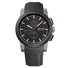 Hugo Boss men's chronograph black canvas strap watch - Product number 1930427