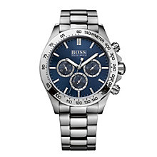 Hugo Boss men's blue dial stainless steel bracelet watch - Product number 1930435