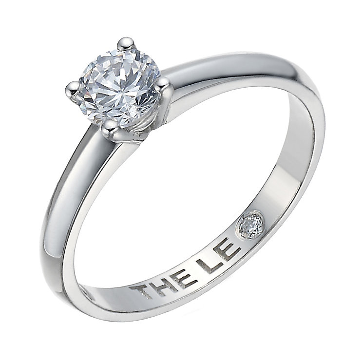 Leo Diamond platinum 0.50ct I-I1 solitaire ring - Product number 1930443