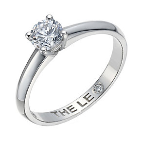 Leo Diamond platinum 0.50ct I-I1 solitaire ring - Product number 1930443