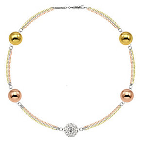 Tresor Paris 3 colour 18ct gold-plated crystal bracelet - Product number 1932896