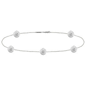 Tresor Paris 18ct white gold-plated & 6mm crystal bracelet - Product number 1932950