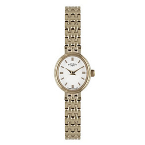 Rotary ladies' oval dial rose gold-plated bracelet watch - Product number 1932993
