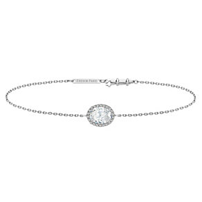 Tresor Paris 18ct white gold-plated crystal bracelet - Product number 1933124