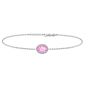 Tresor Paris 18ct white gold-plated pink crystal bracelet - Product number 1933167