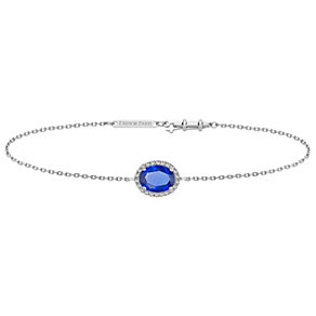 Tresor Paris 18ct white gold-plated blue crystal bracelet - Product number 1933205