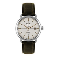 Rotary Les Originales men's brown leather strap watch - Product number 1933663