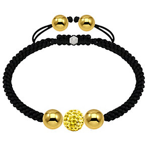 Tresor Paris 18ct gold-plated 10mm crystal bead bracelet - Product number 1933760