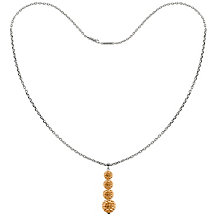 Tresor Paris 18ct white gold-plated gold crystal necklace - Product number 1933965