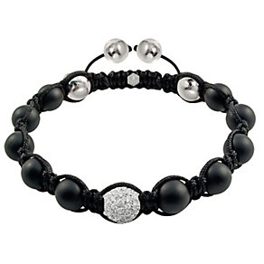 Tresor Paris 18ct white gold-plated agate & crystal bracelet - Product number 1934414