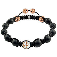 Tresor Paris 18ct rose gold-plated agate & crystal bracelet - Product number 1934422