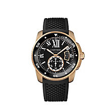 Cartier Calibre de Cartier men's black rubber strap watch - Product number 1936050