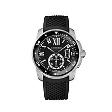 Cartier Calibre de Cartier men's black rubber strap watch - Product number 1936093