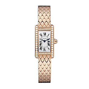 Cartier Tank ladies' 18ct rose gold diamond bracelet watch - Product number 1936239