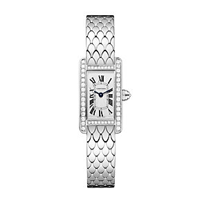 Cartier Tank ladies' 18ct white gold diamond bracelet watch - Product number 1936328