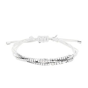 Fossil stainless steel beaded white cord bracelet - Product number 1937197