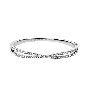 DKNY Stainless Steel Crystal Set Woven Bangle - Product number 1938363