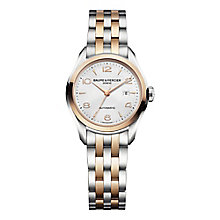 Baume & Mercier Clifton ladies' two colour bracelet watch - Product number 1939424