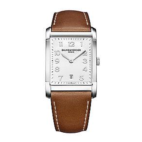 Baume & Mercier Hampton men's tan leather strap watch - Product number 1939440