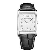 Baume & Mercier Hampton men's black leather strap watch - Product number 1939459