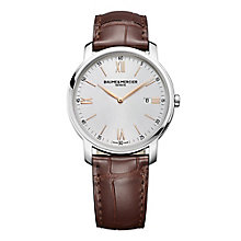 Baume & Mercier Classima men's brown leather strap watch - Product number 1939467