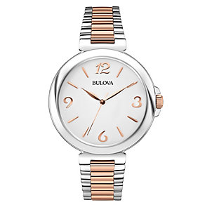 Bulova Ladies' White Dial Two Colour Bracelet Watch - Product number 1940341