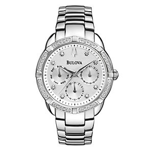 Bulova Ladies' Diamond Set Stainless Steel Bracelet Watch - Product number 1940376