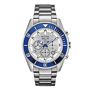 Bulova Marine Star Men's Stainless Steel Bracelet Watch - Product number 1940384