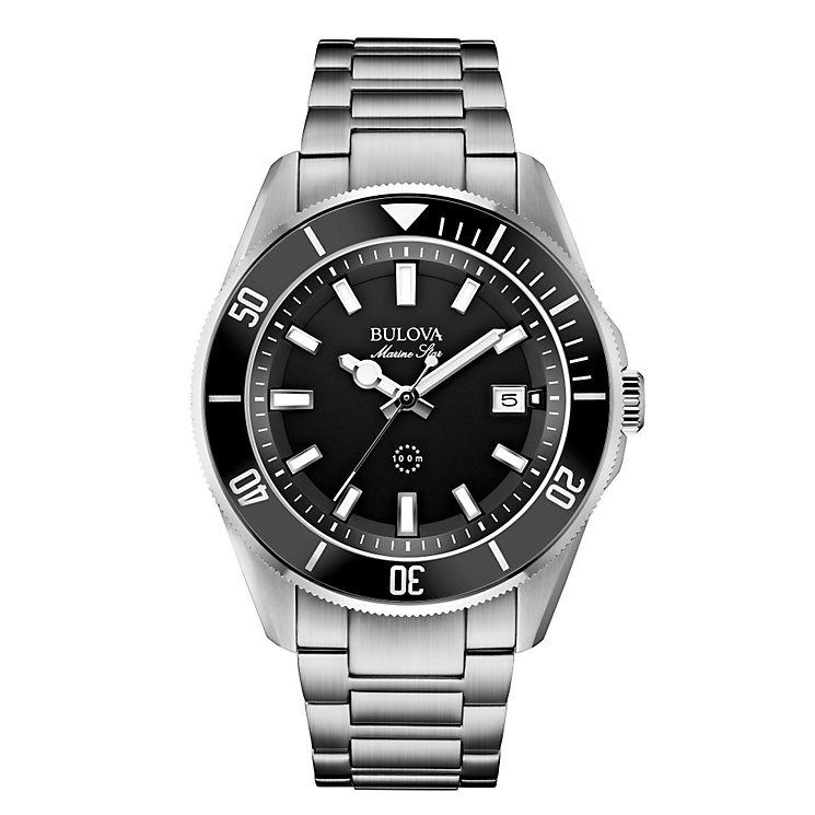 Bulova Marine Star Men's Stainless Steel Bracelet Watch - Product number 1940392