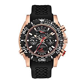 Bulova Precisionist Men's Black Rubber Strap Watch - Product number 1940422
