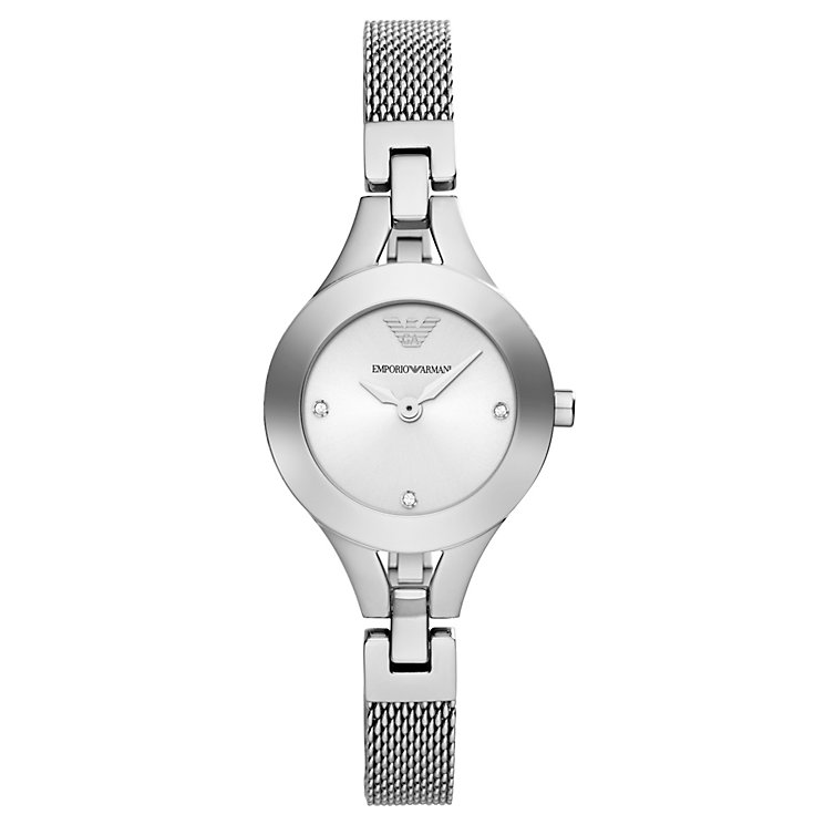 Emporio Armani Ladies' Stainless Steel Mesh Bracelet Watch - Product number 1940813