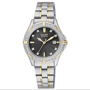 Citizen Eco-Drive Silhouette Ladies' Diamond Bracelet Watch - Product number 1941852