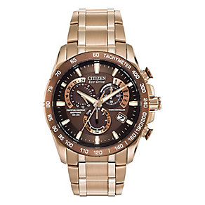 Citizen Eco-Drive Men's Perpetual A-T Bracelet Watch - Product number 1941895
