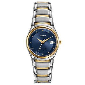 Citizen Eco-Drive Ladies' Two Colour Bracelet Watch - Product number 1941909