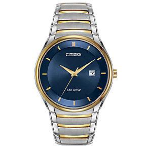 Citizen Eco-Drive Men's Two Colour Bracelet Watch - Product number 1941984
