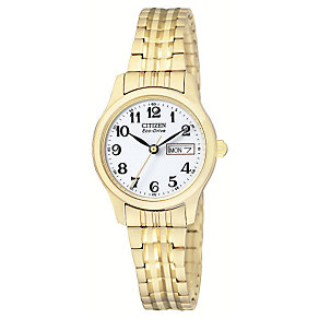 Citizen Eco-Drive Ladies' Gold-Plated Bracelet Watch - Product number 1942611