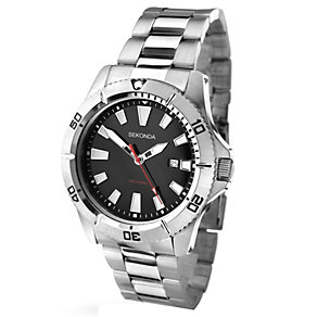 Sekonda Men's Stainless Steel Watch With Black Dial - Product number 1945904